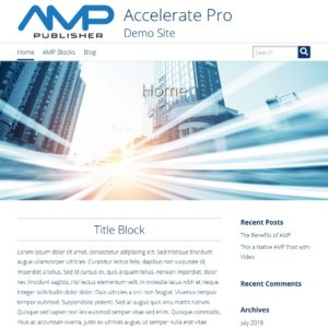 screenshot of Accelerate AMP Pro theme